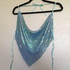 Tops - Mermaid Teal Shimmer Top
